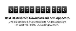 Apple 50Mrd Downloads