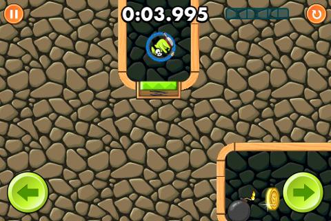 Hier benutzt Boom! gerade ein Trampolin.