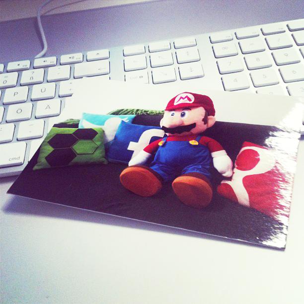 petesso-Mario Postkarte