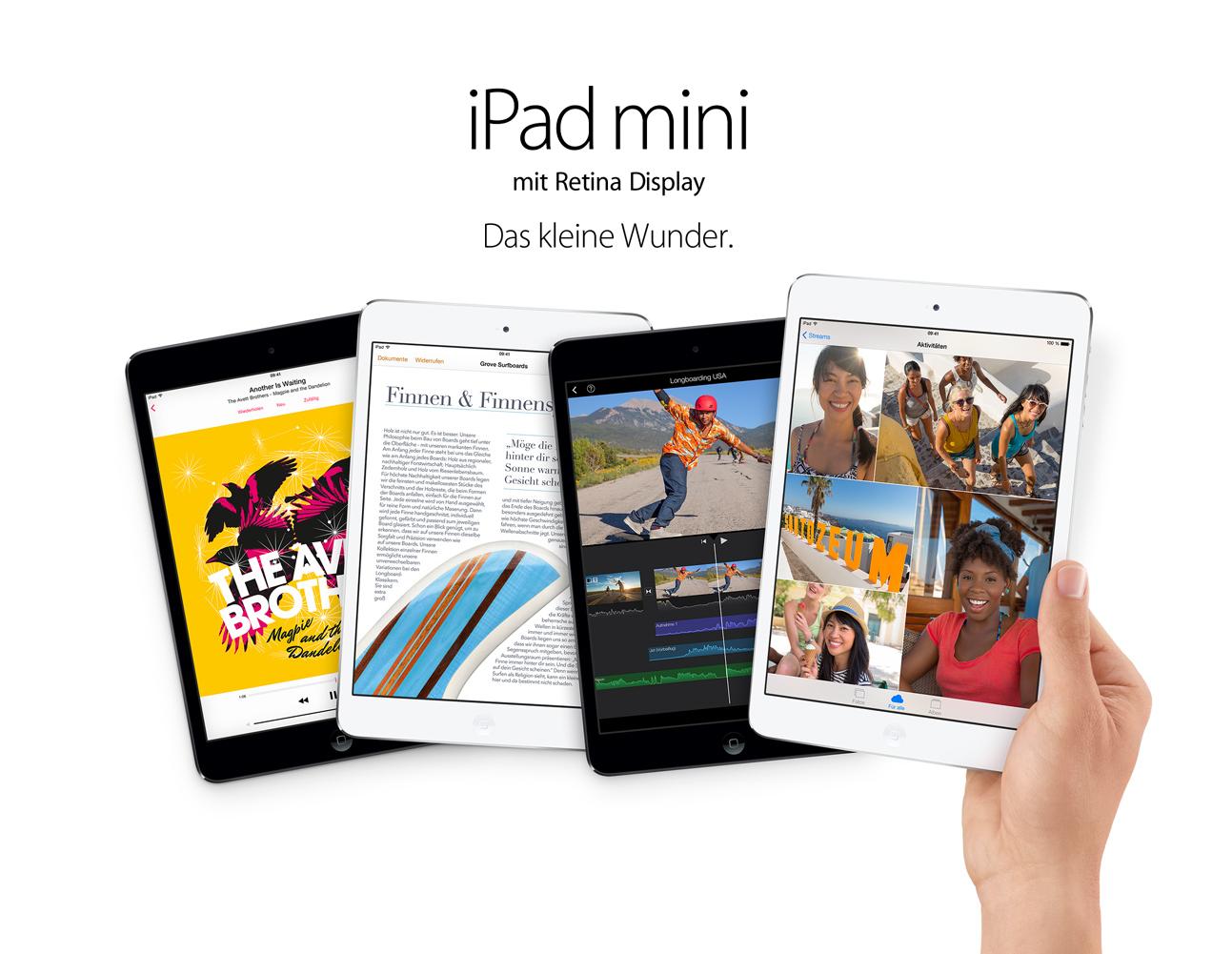 Das iPad Mini 2 hat nun endlich auch das langersehnte Retina Display