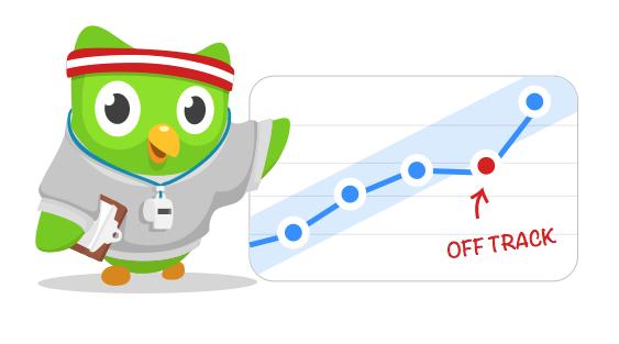 Duo ist der Sprach-Coach von Duolingo und hält Dich auf Trab!