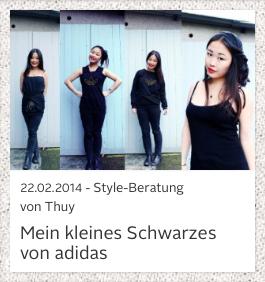 Wie kreativ man mit der Farbe schwarz umgehen kann zeigt uns Thuy mit ihrer Auswahl von adidas.