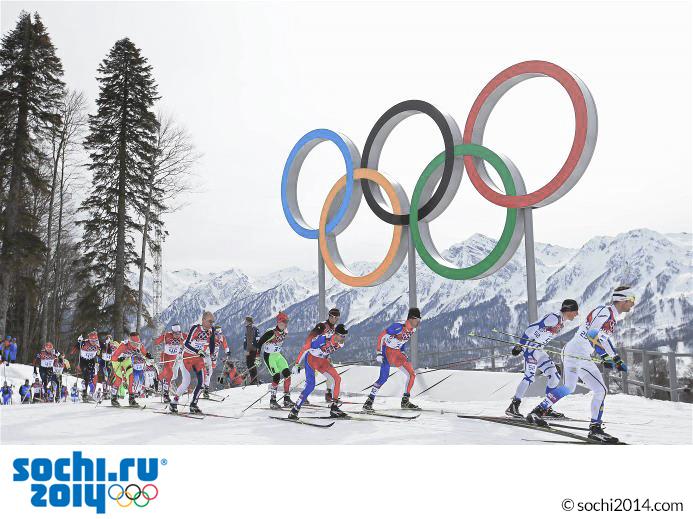 Die olympischen Spiele 2014 in Sochi.