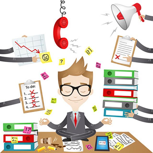 Stress im Büro ist nichts ungewöhnliches – ein voller Terminplan, neue Aufträge von allen Seiten und dauerklingeln des Telefons gehören einfach dazu.