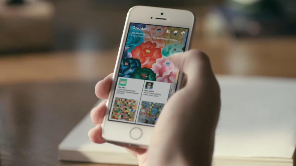 Die App Paper – stories from Facebook wird vorgestellt.