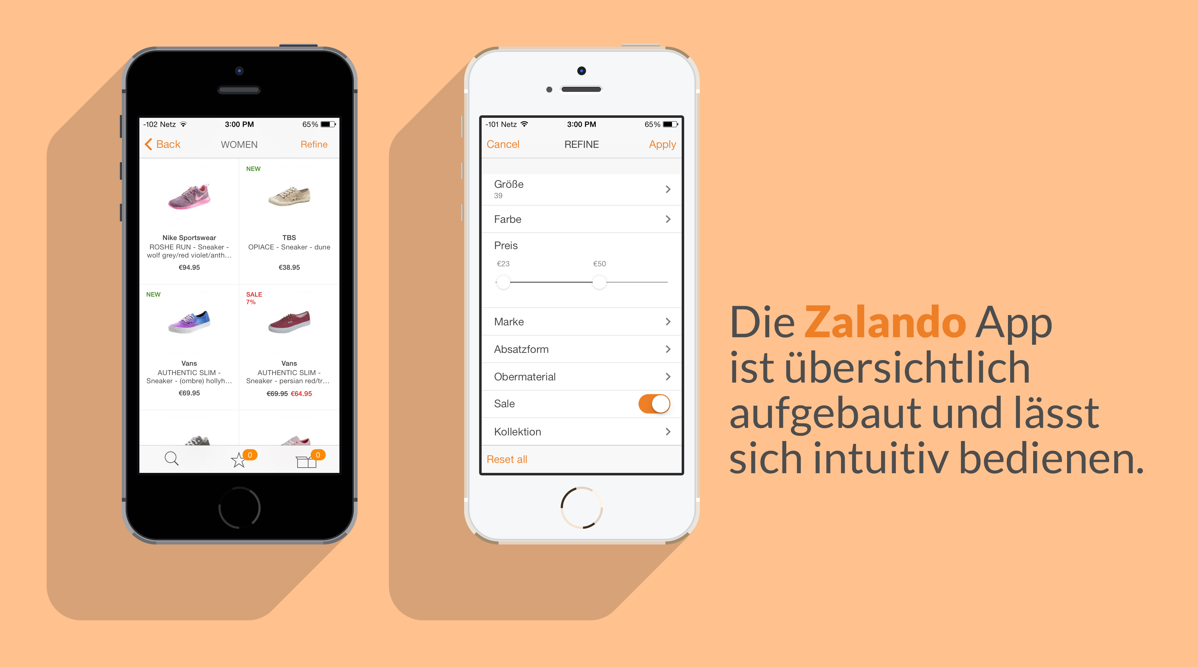 zalando in mobil was kann die app des bekannten online. Black Bedroom Furniture Sets. Home Design Ideas