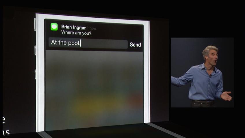 iOS 8 - interaktive Nachrichten