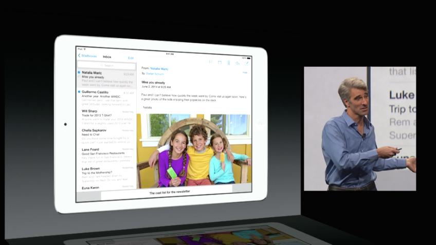 iOS 8 - Mail minimieren