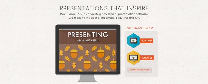 Mit der App Haiku Deck könnt Ihr einfach und schnell Präsentationen erstellen.