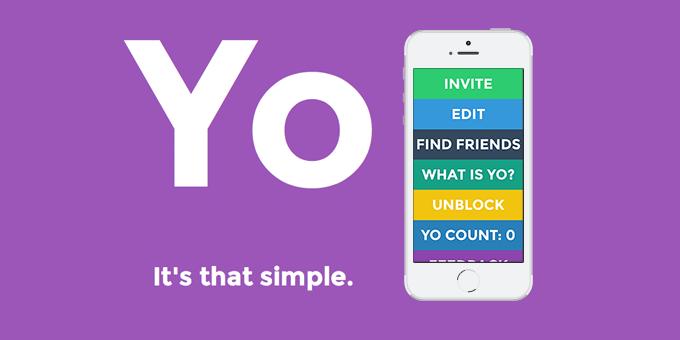Hier wird ein Screenshot aus der App Yo. gezeigt.