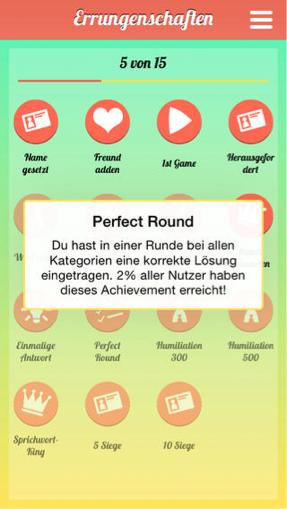 Hier ist ein Screenshot von einer möglichen Auszeichnung im Spiel.