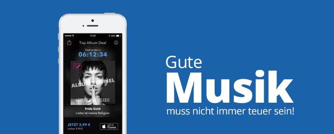 Gute Musik muss nicht immer teuer sein! – Das zeigt die App Top Album Deal.