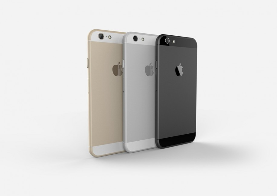 Rückansicht der erwarteten drei Farbvarianten des iPhone 6.