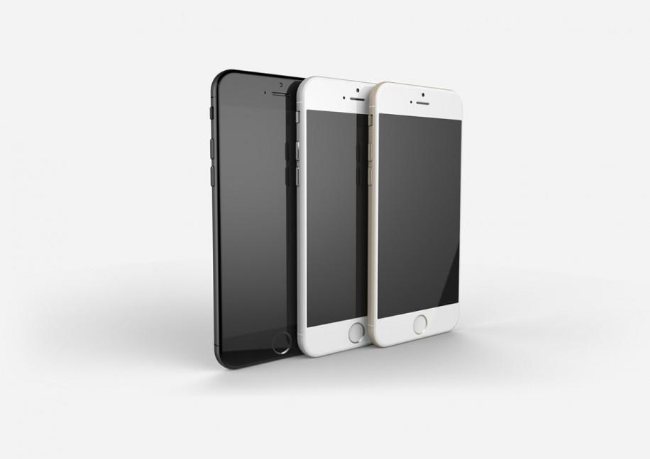 Vorderansicht der drei erwarteten Farben für das iPhone 6.