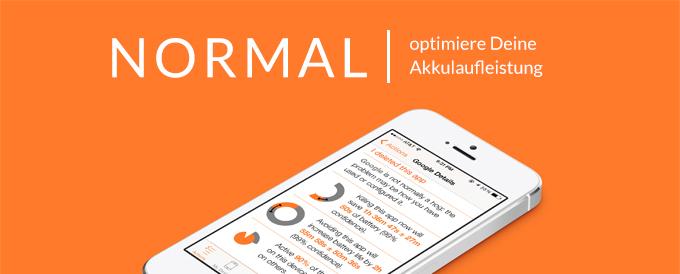 Mit der App Normal lässt sich die Akkulaufzeit optimieren.