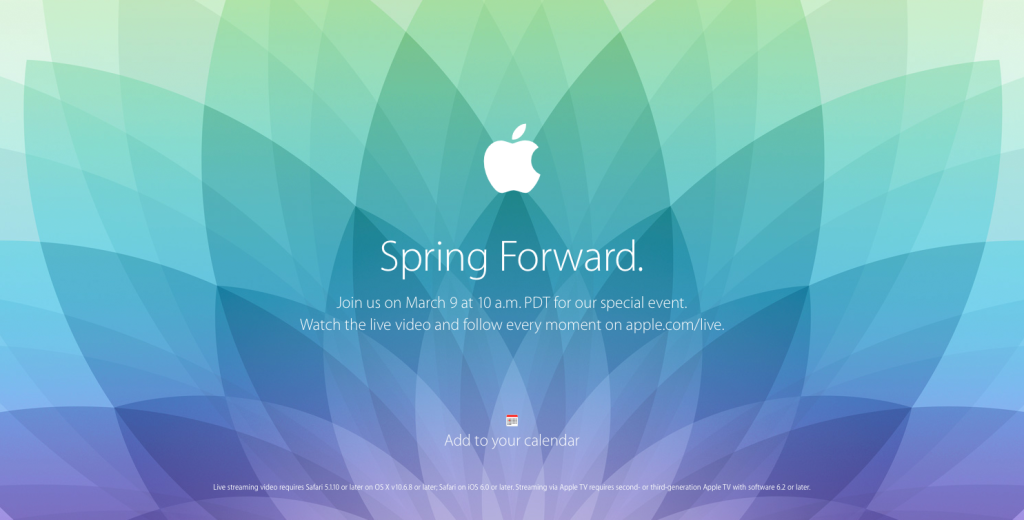Apple-Live-Event Spring Forward