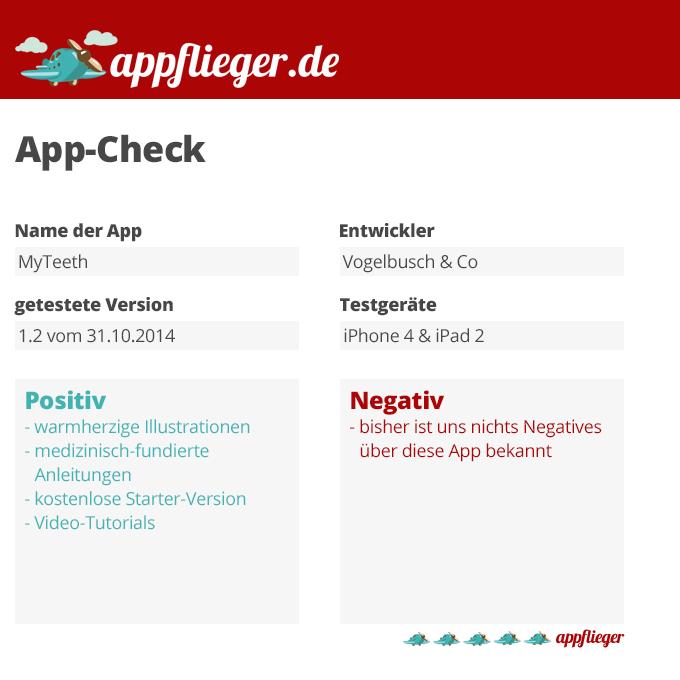 appflieger App-Check MyTeeth