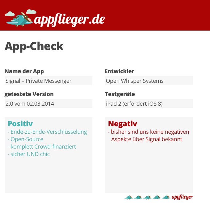 appflieger App-Check Signal