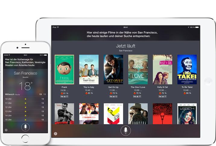 Als Sprachassistent des Betriebssystems hat Siri Zugriff auf alle Apps. (Quelle: apple.com)