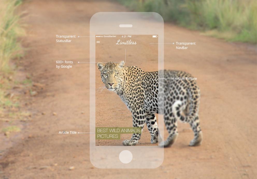 GoodBarber-Apps können individuell angepasst werden.