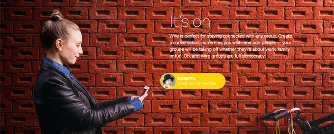 Wire ist ein Soziales Netzwerk, das auf Design und Datenschutz setzt.